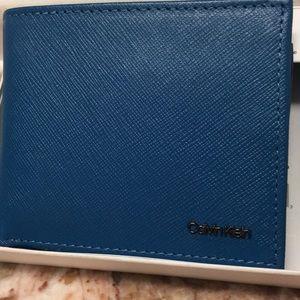 Calvin Klein - Leather Teal Blue NWT Billfold